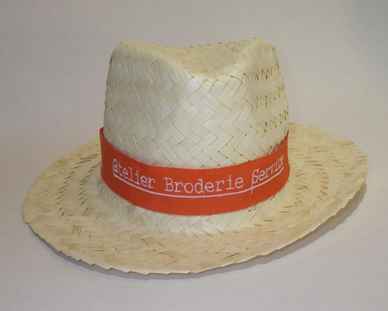 broderie sur bandeau  de chapeau